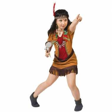 Carnaval indianen verkleed kostuum jurkje meisjes