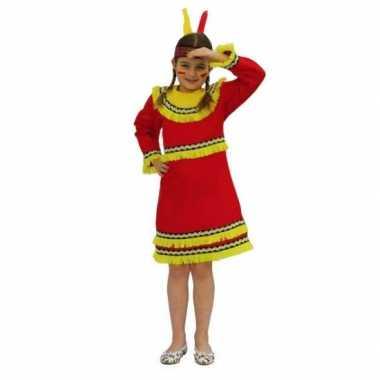 Carnaval indianenkostuum rood meisjes