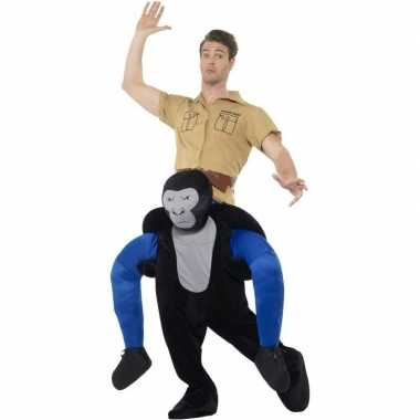 Carnaval instap dierenkostuum gorilla volwassenen