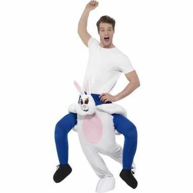 Carnaval instap dierenkostuum konijn/haas volwassenen