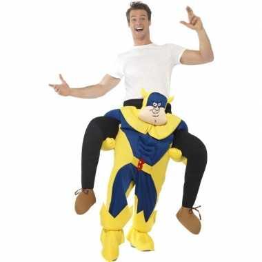 Carnaval instapkostuum bananaman volwassenen