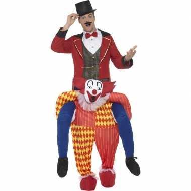 Carnaval instapkostuum circus clown volwassenen
