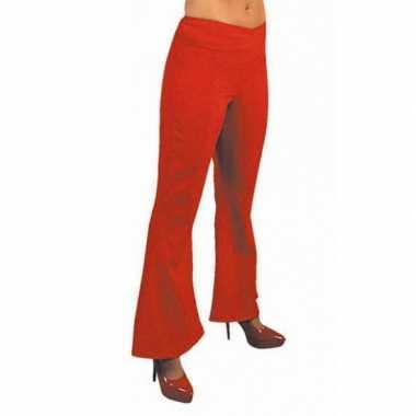 Carnaval  Jaren dames broek rood kostuum