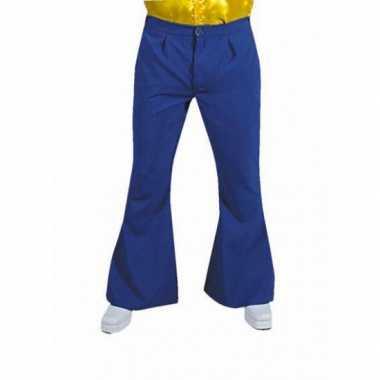Carnaval  Jaren heren broek blauw kostuum