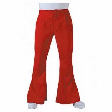 Carnaval  Jaren heren broek rood kostuum