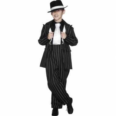 Carnaval  Jongens gangster kostuum zwart
