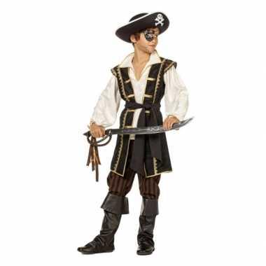 Carnaval  Jongens piraten kostuum bruin