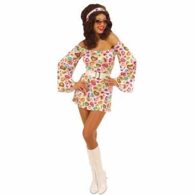 Carnaval  Jurkje hartjes print dames kostuum