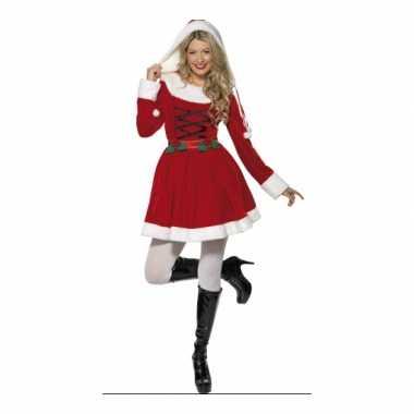 Carnaval  Kerstjurkje rood dames kostuum