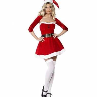 Carnaval  Kerstvrouw kostuum jurkje bolero