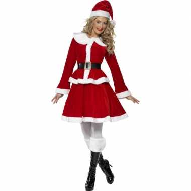 Carnaval  Kerstvrouw ouftit kostuum