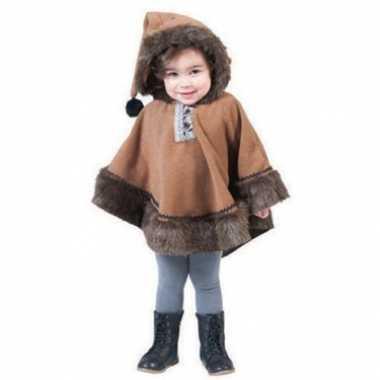 Carnaval  Kinder eskimo poncho capuchon kostuum