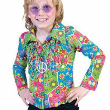 Carnaval  Kinder hippie kostuum knopen