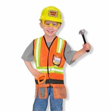 Carnaval  Kinder kostuum bouwvakker