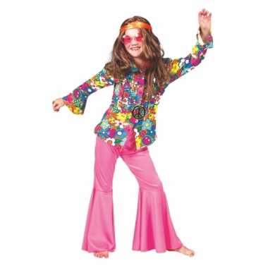 Carnaval  Kinder kostuum gebloemd sixties