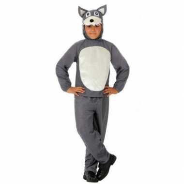 Carnaval  Kinder kostuum grijs wolfje