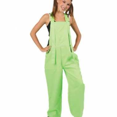 Carnaval  Kinder tuinbroeken groen kostuum