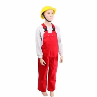 Carnaval  Kinder tuinbroeken rood kostuum