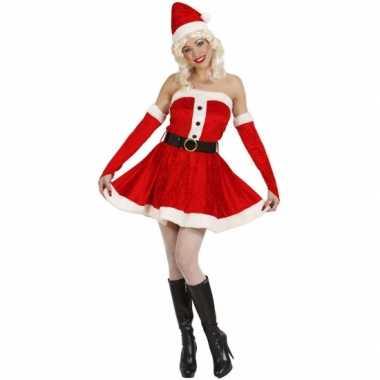 Kostuums Dames.Carnaval Kort Dames Kerstjurkje Kostuum