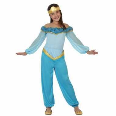 Carnaval  Kostuum blauwe arabische prinses