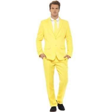 Carnaval  Kostuum heren maatkostuum geel