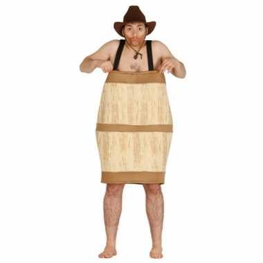 Carnaval  Kostuum houten biervat mannen