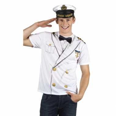 Carnaval kostuum kapiteinskostuum opdruk heren