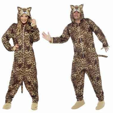 Carnaval kostuum luipaard all one volwassenen