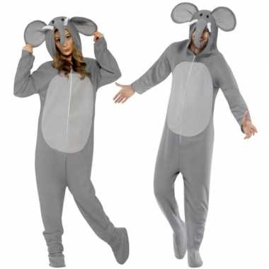 Carnaval  Kostuum olifant all-one volwassenen