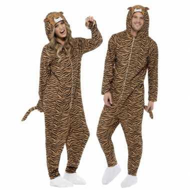Carnaval  Kostuum tijger all-one volwassenen