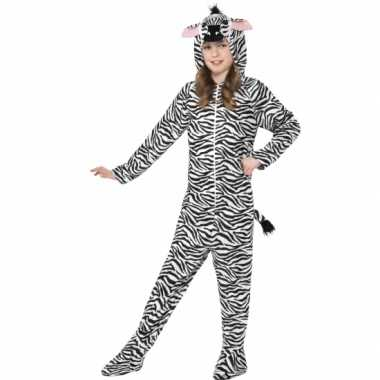 Carnaval  Kostuum zebra all-one kinderen