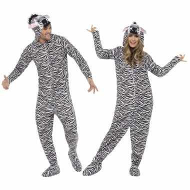 Carnaval kostuum zebra all one volwassenen
