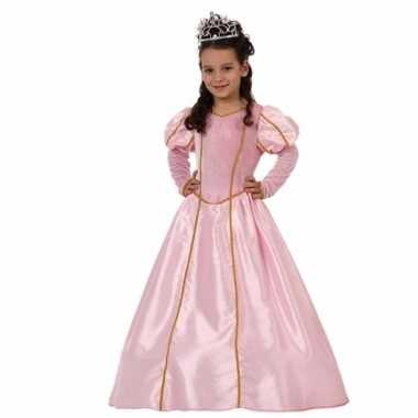Carnaval lange roze prinsessenjurk meisjes kostuum