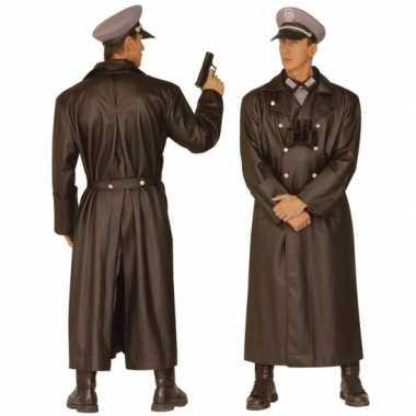 Carnaval  Lange soldaten jas Tweede Wereldoorlog kostuum