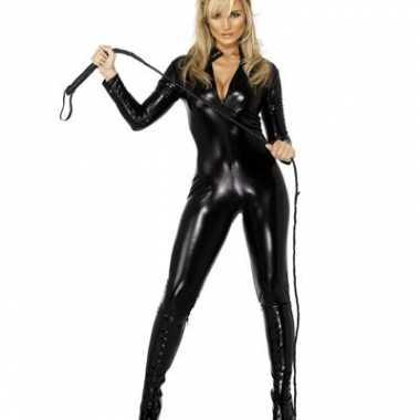 Carnaval  Lederlook kostuumje zwart