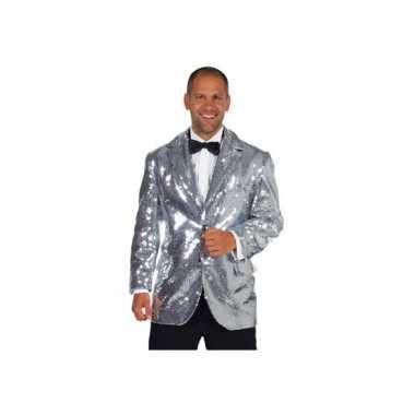 Carnaval  Leuk blazer zilver mannen kostuum