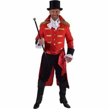 Carnaval  Leuk circus jas rood heren kostuum