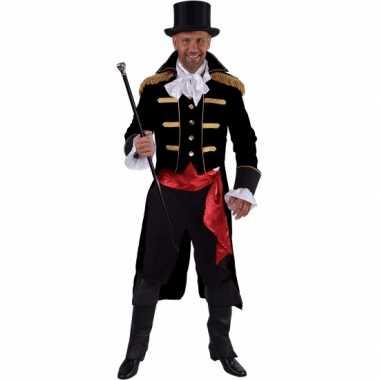 Carnaval leuk circus jas zwart heren kostuum