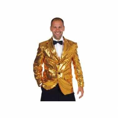 Carnaval  Leuk gouden blazers mannen kostuum