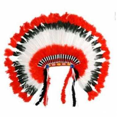Carnaval  Leuk indianen hoofdtooi kostuum