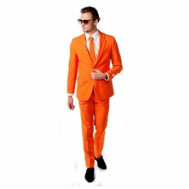 Carnaval  Leuk oranje kostuum inclusief das