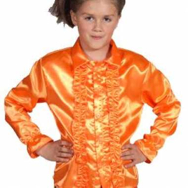 Carnaval leuk oranje rouches kostuum kinderen
