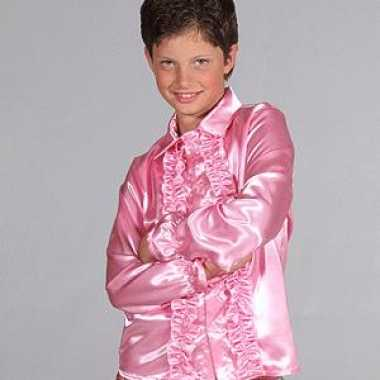 Carnaval leuk rouches kostuum roze kids