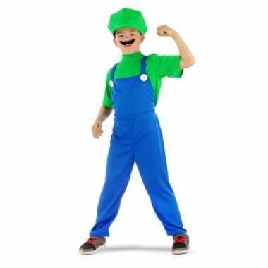 Carnaval  Loodgieter kostuum groen jongens