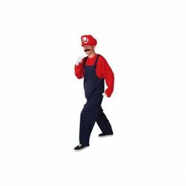 Carnaval  Loodgieter kostuum rood heren