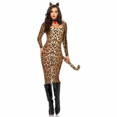Carnaval luipaard catsuit oortjes kostuum