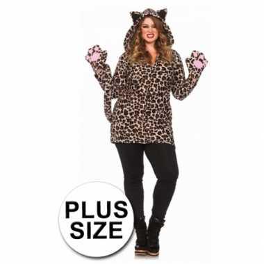Carnaval  Luipaard jas handschoenen grote maten kostuum