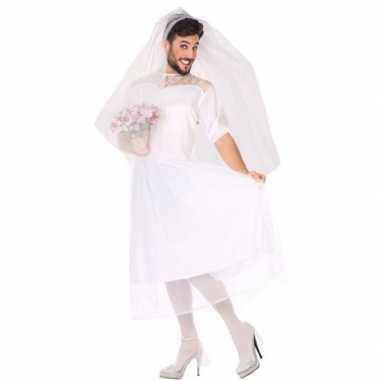 Carnaval man bruid fun verkleed kostuum heren