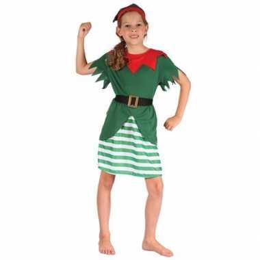 Carnaval  Meisjes kerstelf kostuum