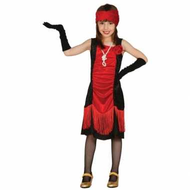 Carnaval  Meisjes maffia kostuum jurkje